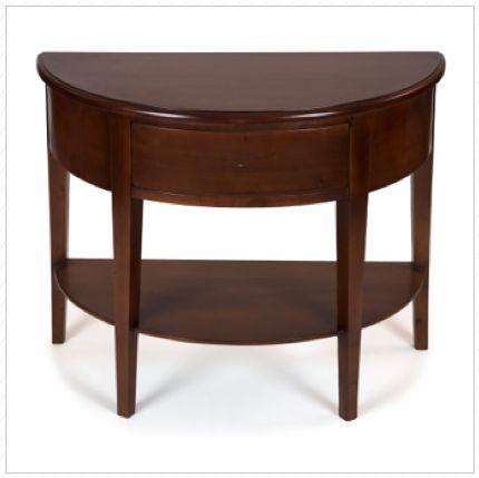 mesa recibidor media luna madera de cedro x x