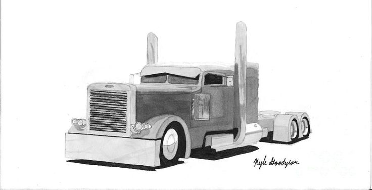 peterbilt 379 drawing - Google Search   Truck This And ...