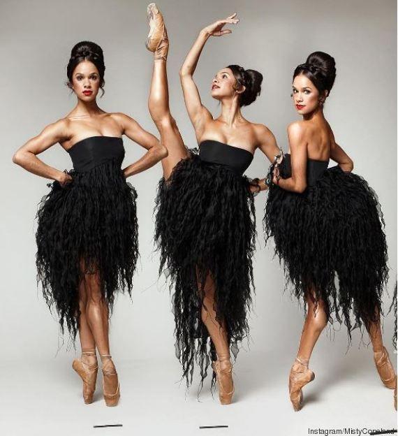Misty Copeland for Essence September 2011 in Oscar De La Renta's Empire Strapless Dress