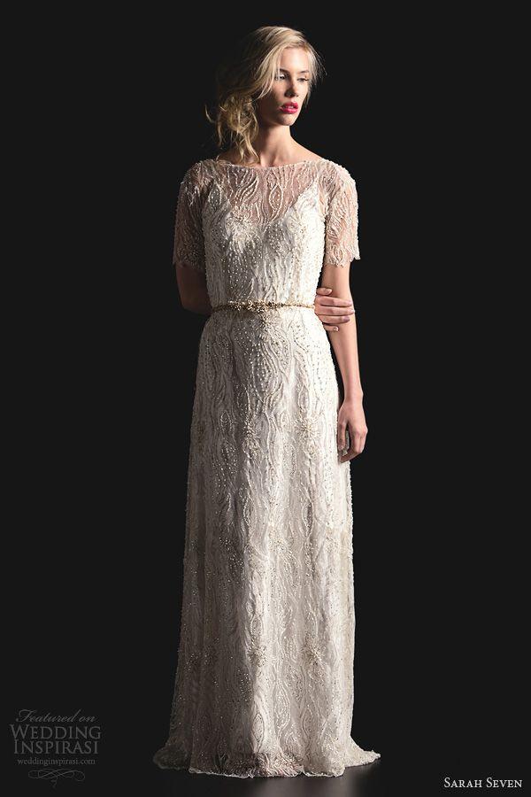 sarah seven bridal 2014 the gibson beaded wedding dress