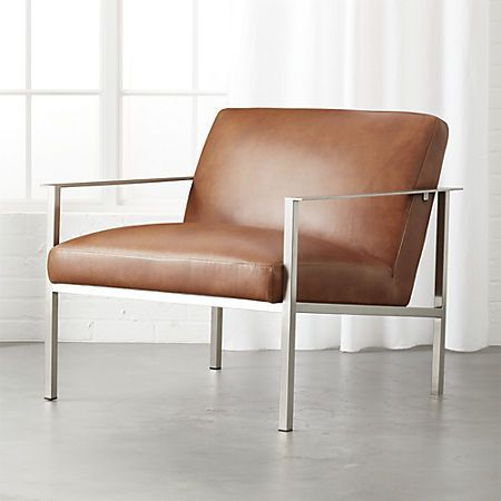cue brown leather lounge chair in 2019 living room decoration rh pinterest com