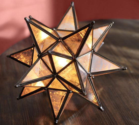 moravian star accent lamp pottery barn