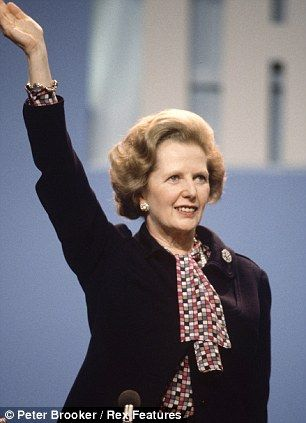 Margaret Thatcher at the Conservative Party Conference, Brighton, East Sussex, Britain - Oct 1984.