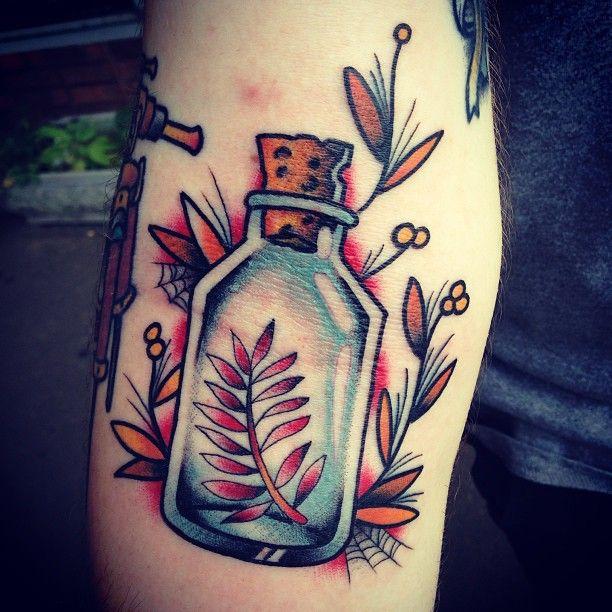 Best 25 bottle tattoo ideas on pinterest traditional for Tattoo cork ink