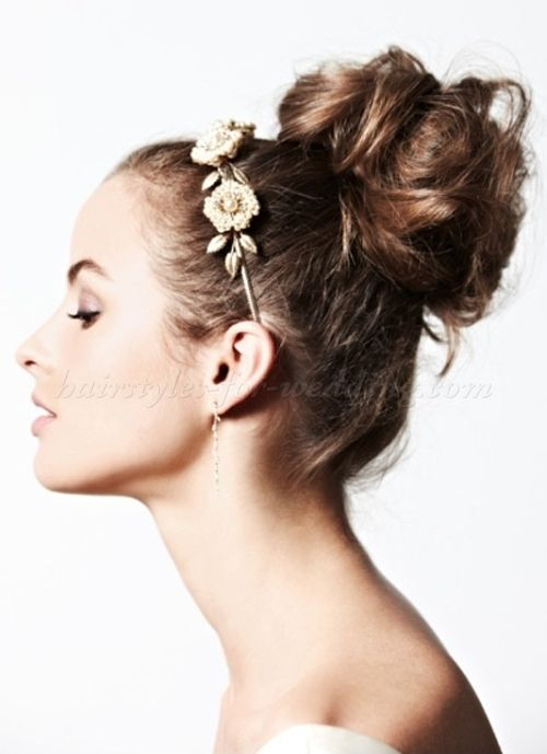 high bun hairstyle for brides
