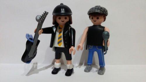 CUSTOM AC/DC - Angus Young - Brian Johnson - ROCKERO GUITARRISTA - PLAYMOBIL
