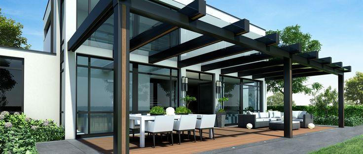 25 beste idee n over moderne huizen op pinterest moderne huizen moderne huizen ontwerpen en - Eigentijds pergola design ...