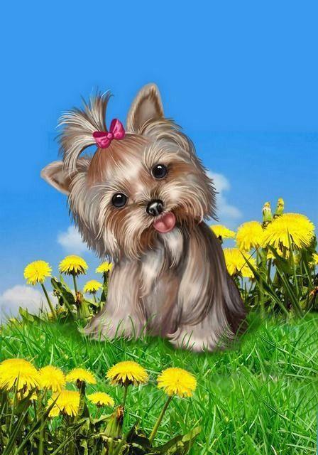 Анимация открытки собаки