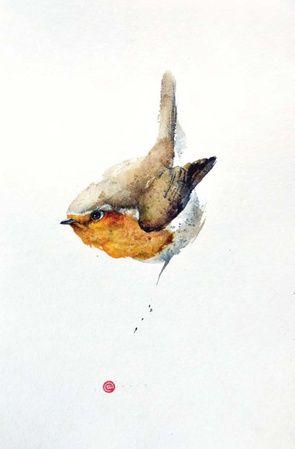 Robin 1 - Karl Martens - watercolor