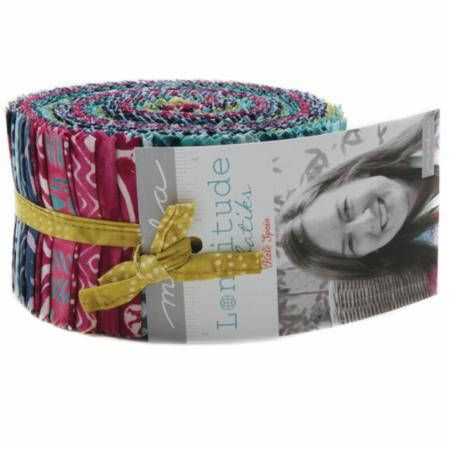 Longitude/Kate Spain/Jelly Roll/Moda Precut/Quilting/Moda Jelly Roll/Fabric/strips/fabric strips/quilting fabric/Moda Batik/Batik Fabric by KimberlysFabricStash on Etsy