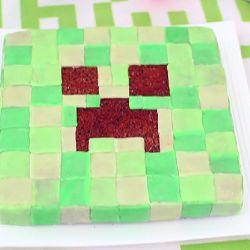 Foto recept: Minecraft Creeper taart