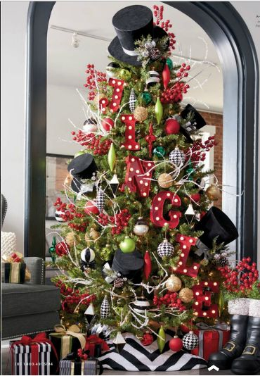 A classic Courtly Check tree! MC Seasonal Holiday Pinterest
