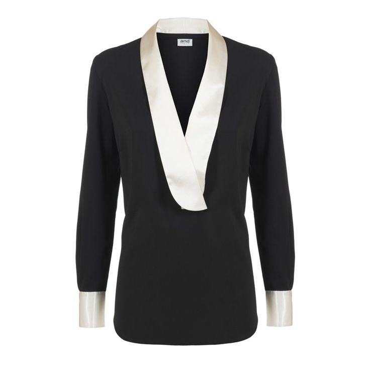 woman shirt shawl collar