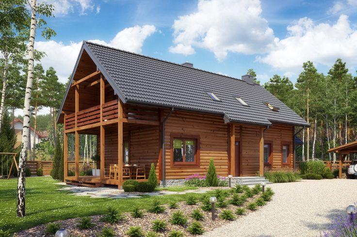 Dom drewniany D1s/1