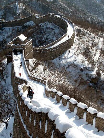 La Gran Muralla China, obviamente en China. Una más de las 7 Maravillas del Mundo Moderno.