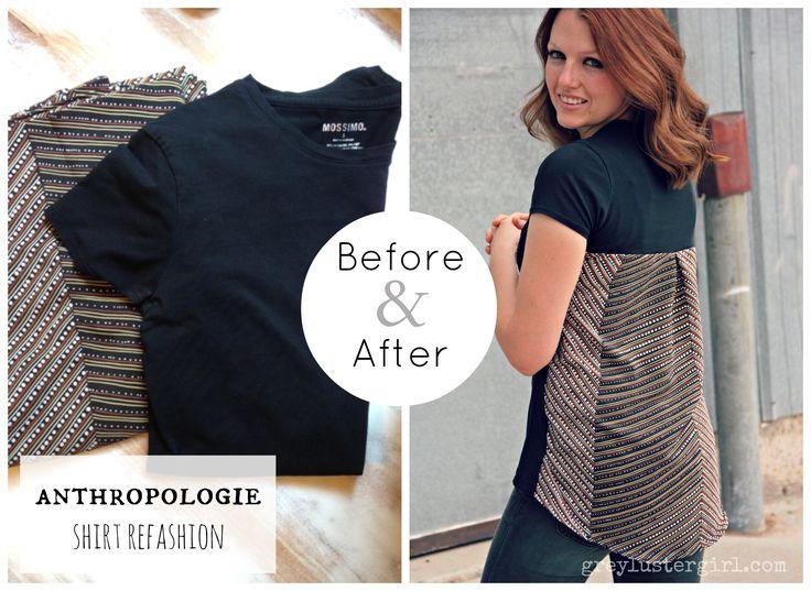 to small tshirt refashion | Anthropologie Shirt Refashion |