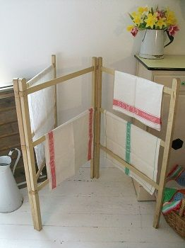 Painted vintage washing airer.