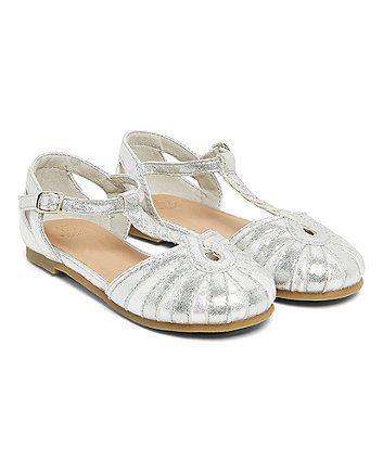 Silver Twist T-Bar Shoes