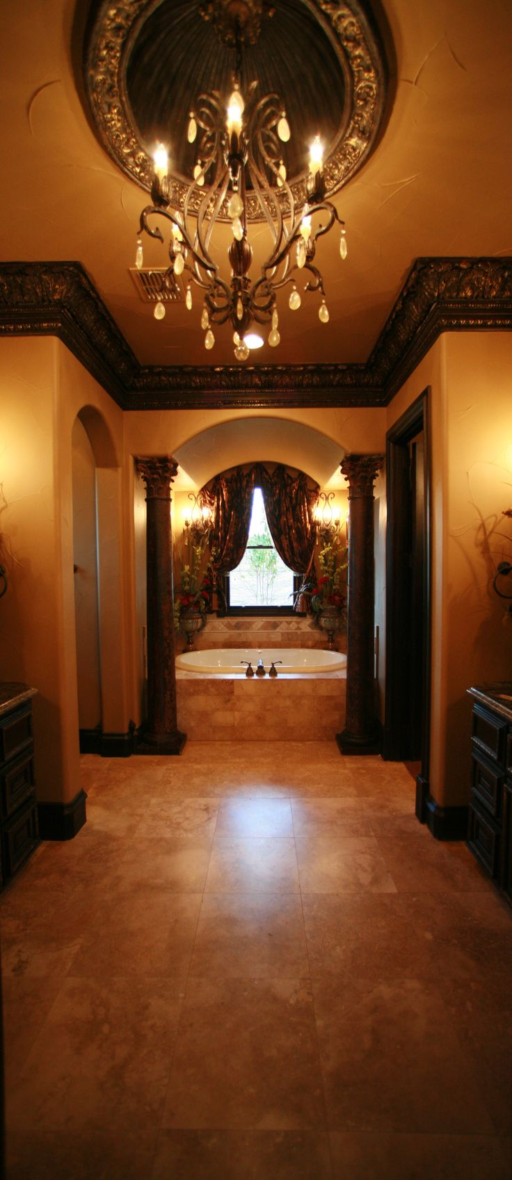 find this pin and more on interior design old worldtraditionaltuscan bathrooms and powder rooms - Tuscan Bathroom Design