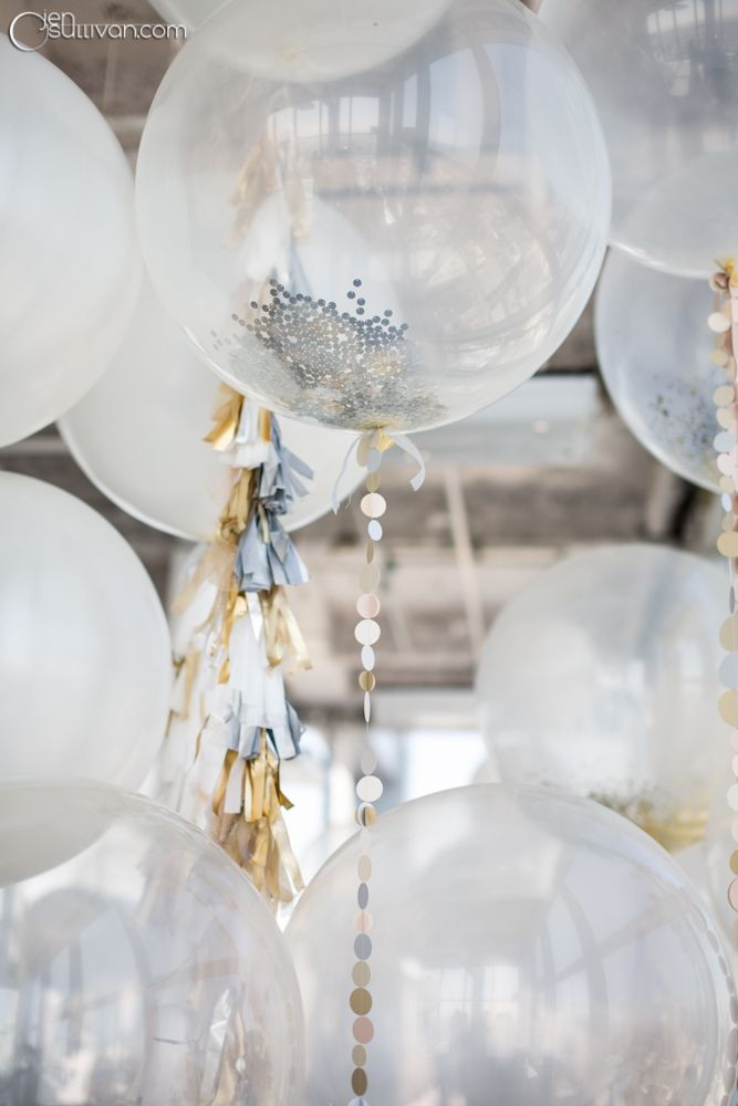 Tinsel & balloons decor #silver & white wedding ... Wedding ideas for brides, grooms, parents & planners ... https://itunes.apple.com/us/app/the-gold-wedding-planner/id498112599?ls=1=8 … plus how to organise an entire wedding ♥ The Gold Wedding Planner iPhone App ♥