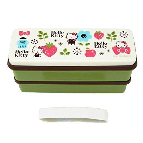 Silicon-Shirubuta-two-stage-lunch-box-630ml-Hello-Kitty-Scandinavian