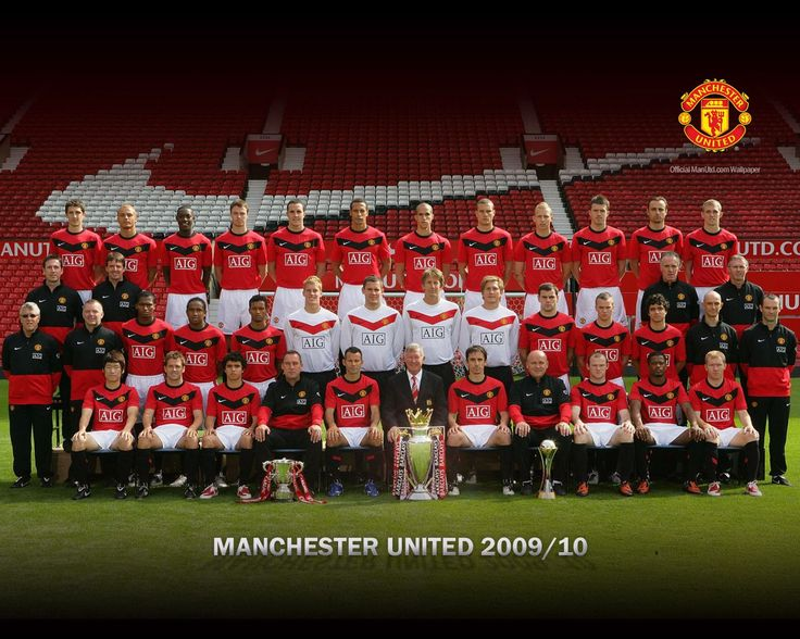 Manchester united 2009-2010 squad wallpaper