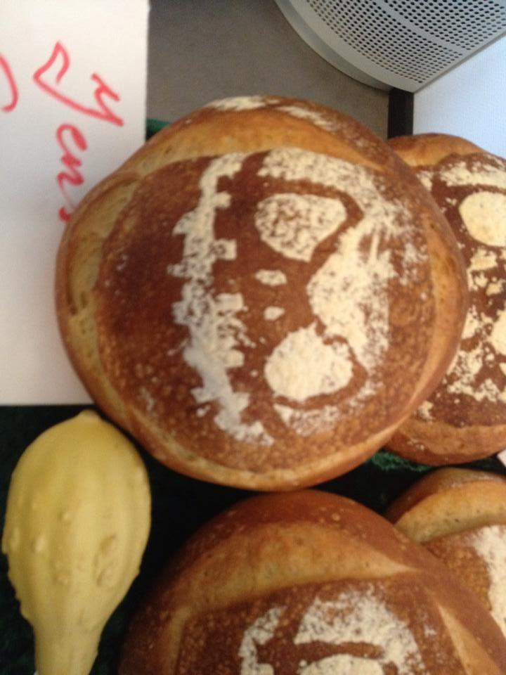 Franskbrød med græskar mønster, fra midtvejsprojekt.