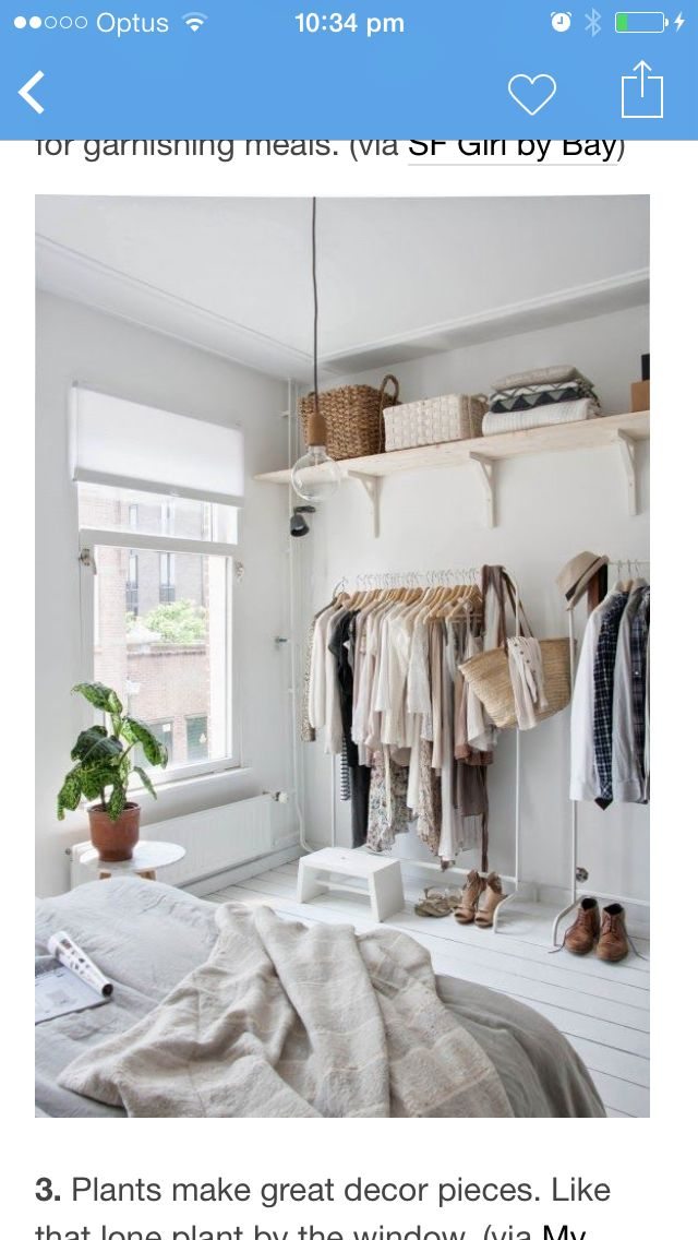 Small Space Closet Ideas From Our Organizing Experts. Clever Storage  Solutions And Stylish Closet Alternatives For Small Spaces. Get Creative  And Add Both ...