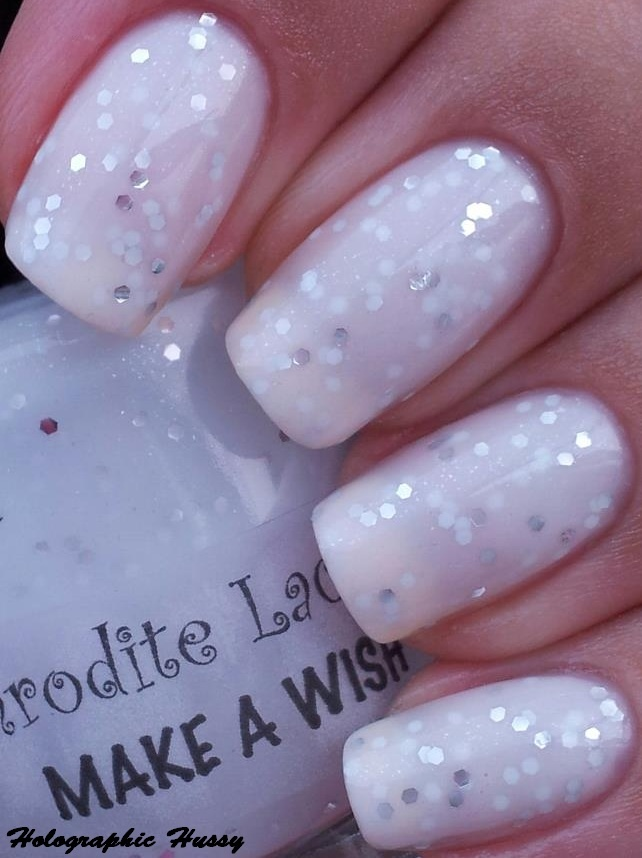 Aphrodite Lacquers Make A Wish on Holographic Hussy. So pretty.
