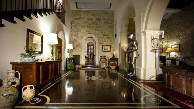 The hall at Eremo della Giubliana, Sicily