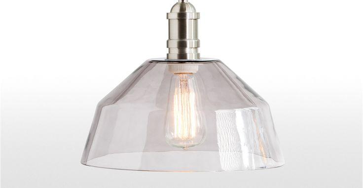 Starkey glazen hanglamp, in nikkel | made.com
