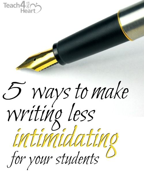 Great ideas to help make writing easier for your students.