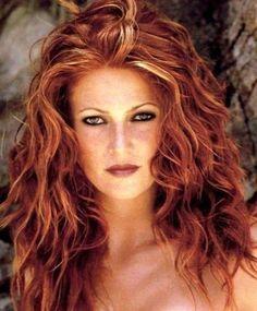 red hair with blonde highlights - Auburn Hair Color With Blonde Highlights