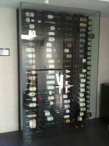 glass enclosed wine storage rack  Google Search  Wine