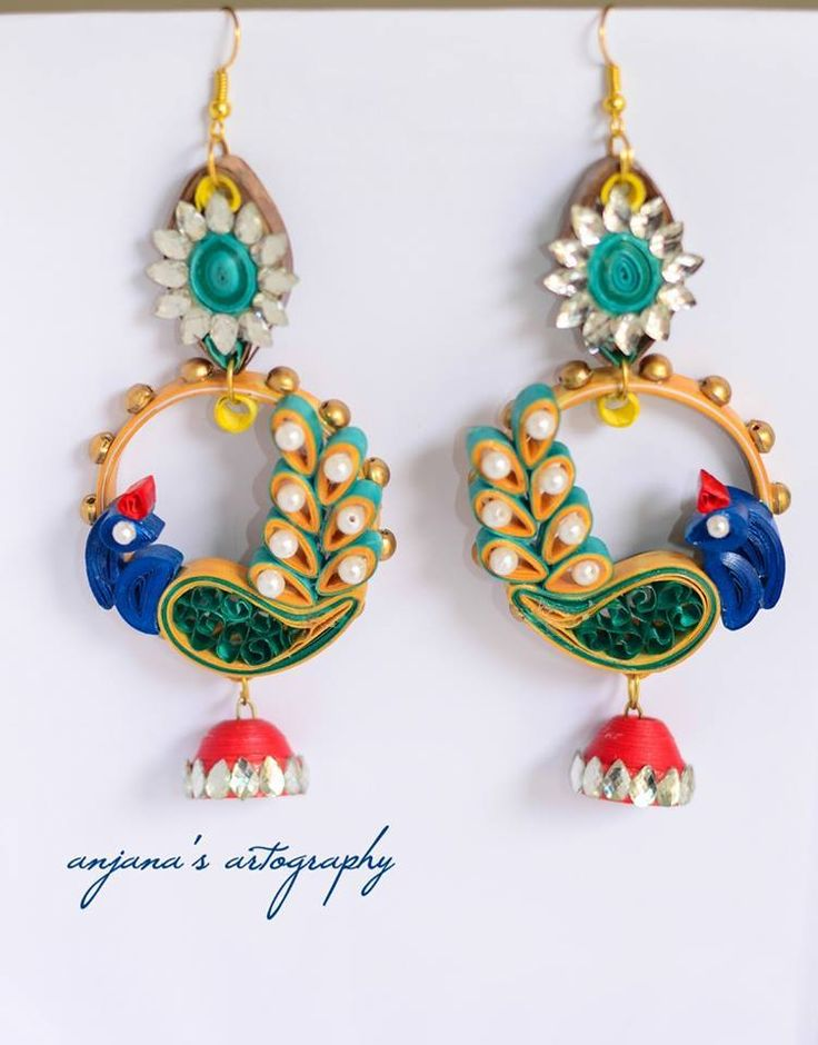 Ornate quilled earrings - I might try making these... they are quite funkadelic