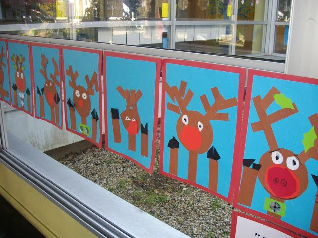 Rudolph at the Window Collage
