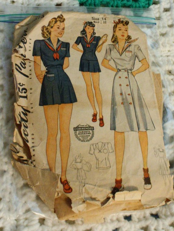 Simplicity 3673 dress Vintage 1940s Sewing by EleanorMeriwether, $10.00