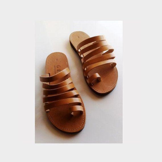 Greek sandals, Leather greek sandals, Ancient greek sandals, flat sandals, Summer shoes, Women beach shoes, Flat leather greek sandals