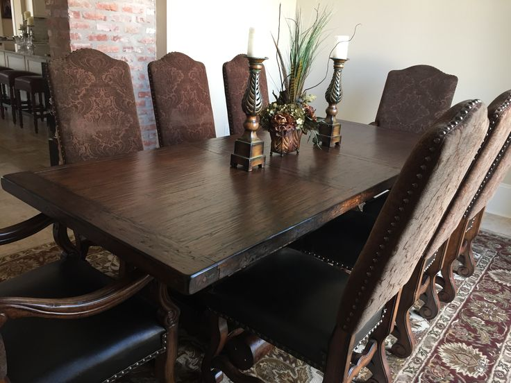 Tuscan Dining Table, Spanish Dining Table, 3 Sizes, Tuscan Trestle Dining  Table With