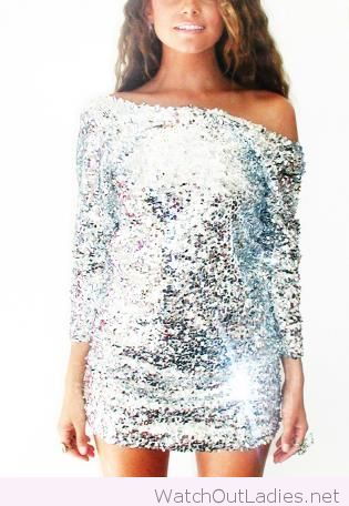 Silver glitter dress design for new year what to wear for Glitter new years dresses