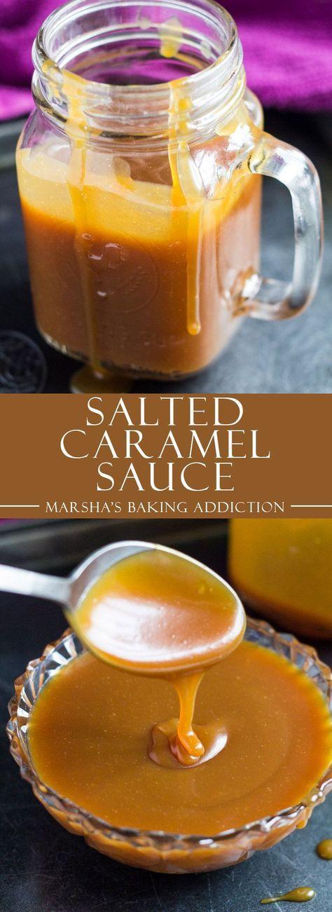 Homemade Salted Caramel Sauce | http://marshasbakingaddiction.com /marshasbakeblog/