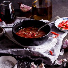 Fresh chilli and garlic marinade
