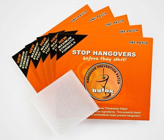 Christmas miracle? Bytox hangover patches claim to nip that morning-after feeling in the bud - before it even starts