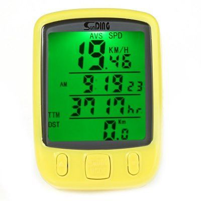 Multifunction Waterproof Temperature Wired Stopwatch LCD Bicycle Accessories