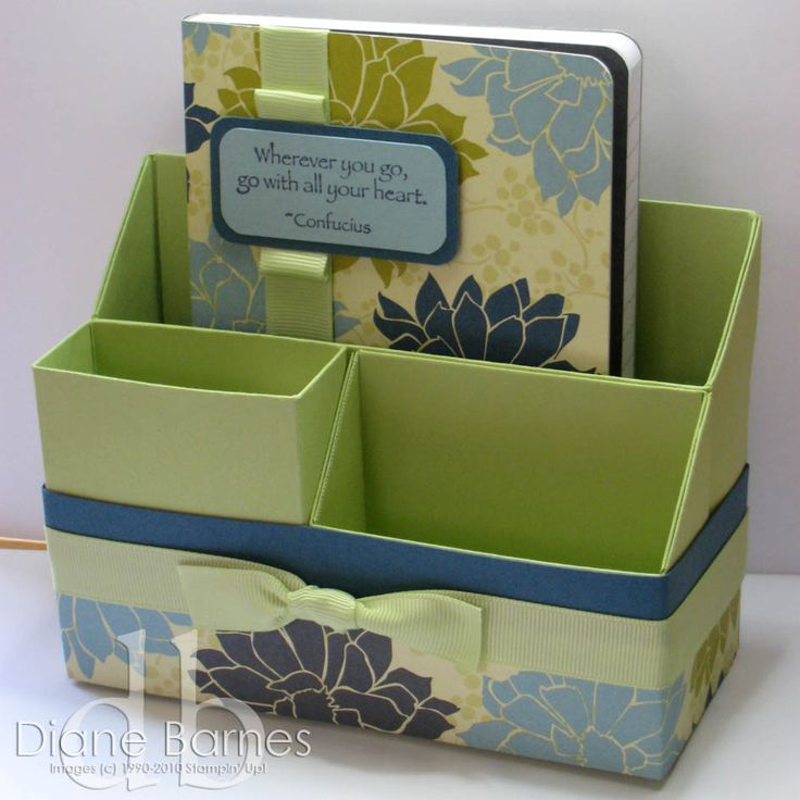 DIY ~ stationary holder with matching journal