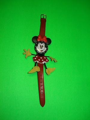 Lorus Quartz Minnie Mouse Watch with Leather Dress Band | eBay