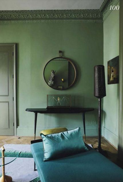 Vintage Style Living Room Shades Of GreenBlue