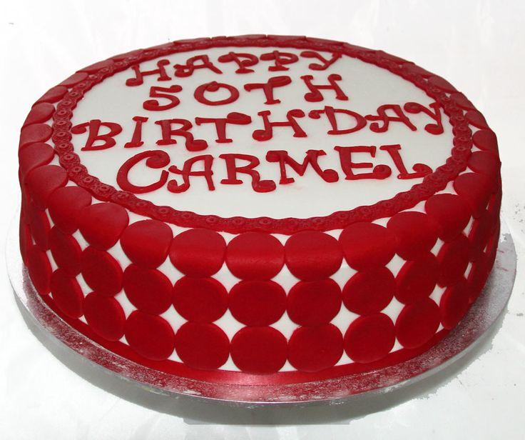 Red Polka Dot Cake Like us at www.facebook.com/melianndesigns