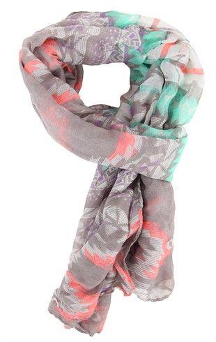 Deb Shops Multicolor #Tribal Print #Scarf $10.90