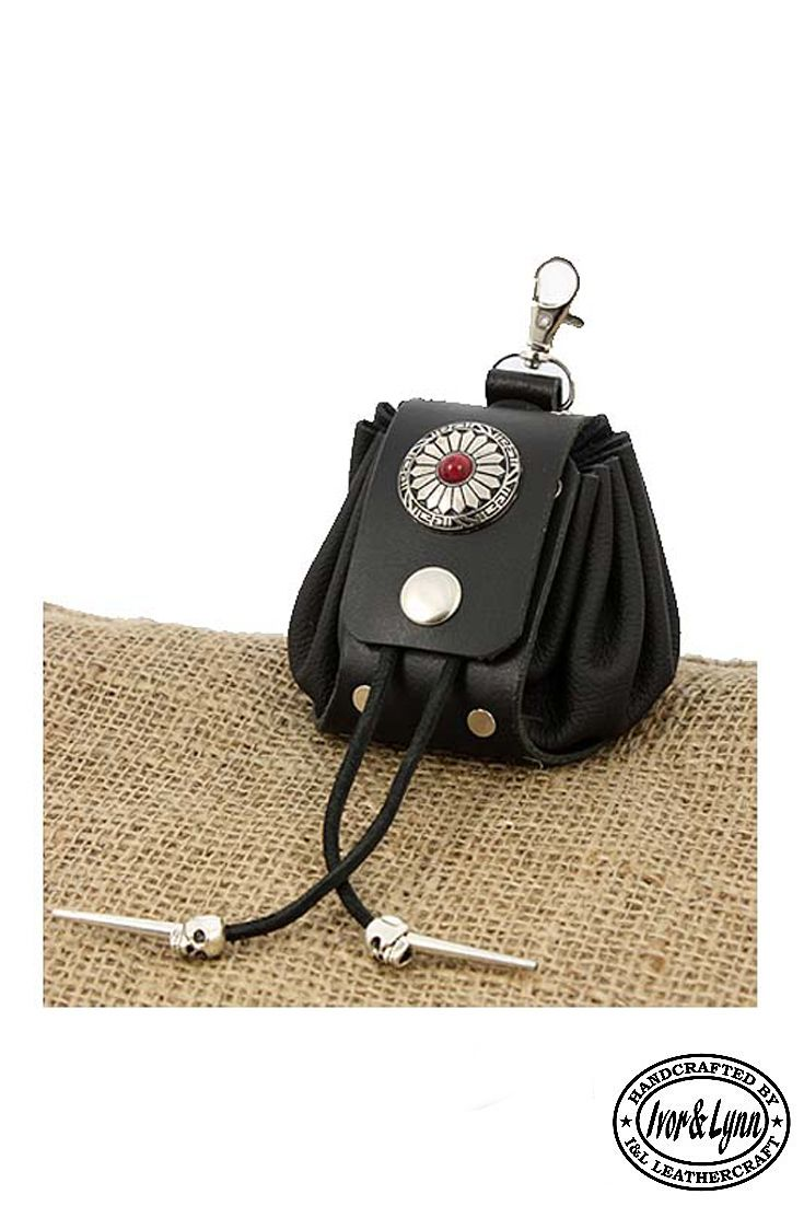 Handmade black leather drawstring pouch  medieval pouch  belt bag  fashion    Handmade leather festival jewellery and accessories   Pinterest   Leather,  ... b8d54c8b94